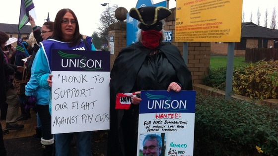 Picket line at Dewsbury Hospital