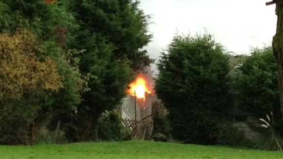 Oil fire in Little Warley