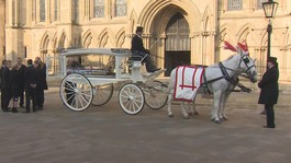 Funeral of Katie Rough, 7, in York
