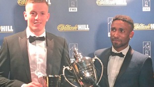 Jordan Pickford picked up the young player of the year award, which Defoe was awarded player of the year.