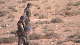Clearing the landmines is a laborious task for the Egyptian Army.