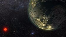 An artist's impression of hot super-Earth, Gliese 411b.