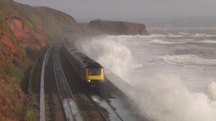 Dawlish line disruption continues into second day after waves smash train's windscreen