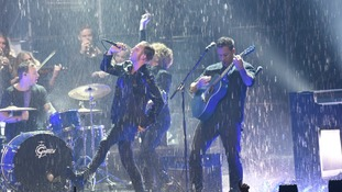 One Republic performs during the European MTV Europe Music Awards