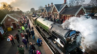 Steam train makes timetabled journey for first time in 50 years