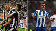 Newcastle United (left) and Brighton and Hove Albion (right) will present tough opposition for our teams tonight.