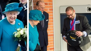 The Queen and Duke of Edinburgh were given demonstrations of cyber equipment during the unveiling.