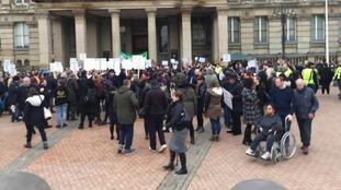 Protest outside Birmingham Council House