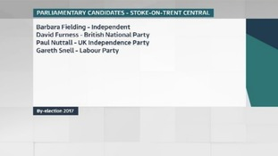 Candidates standing in the Stoke Central by-election