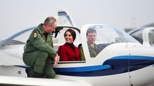 """Duchess shows off her """"flying"""" skills"""