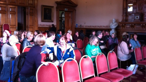 Hospital admin staff ahead of rally at Dewsbury Town Hall