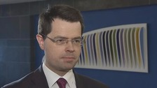 Secretary of State James Brokenshire was speaking from Dublin.