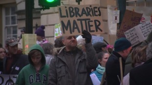 Protesters fight for local library