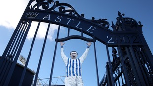 The Jeff Astle memorial gates at The Hawthorns, home of West Brom.