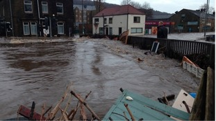 Floods minister visits Mytholmroyd