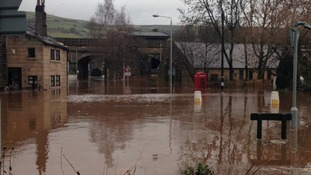 Mytholmroyd under water