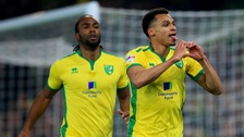 Jacob Murphy celebrates putting Norwich City ahead.