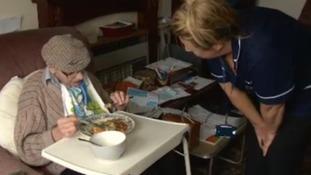 Joanne visits war veteran Albert