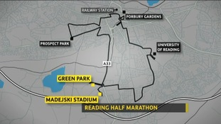 Reading half marathon map