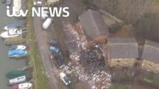 Scene of devastation after Oxford explosion