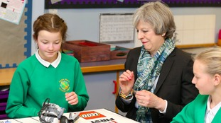 Theresa May visited a school in Copeland today.