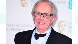 Ken Loach with the BAFTA for Outstanding British Film for I, Daniel Blake