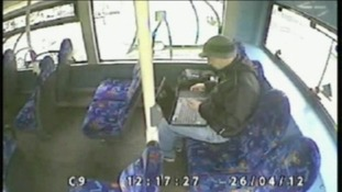Allen inspected the stolen laptop on a bus as he travelled south