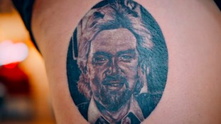 Noel Edmonds fan has his face tattooed on her leg