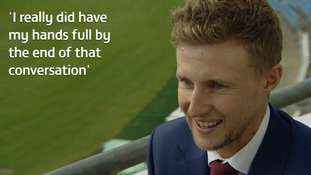 New Test captain Joe Root was changing a nappy when he answered England's call