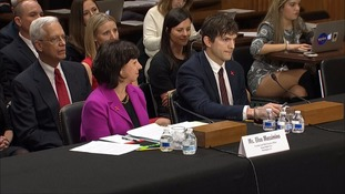 Ashton Kutcher at hearing