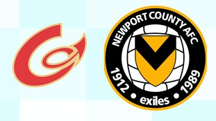 The Dragons hope to relocate their last game to another pitch to avoid clash with Newport County