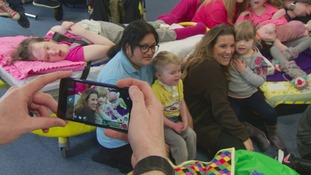 X-Factor winner Sam Bailey performs at Leicestershire Children's Hospice