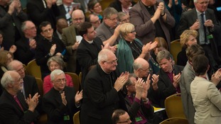 The announced vote to reject the report was applauded by many within the Synod.