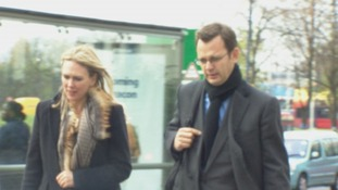 Andy Coulson pictured arriving at Lewisham Police Station today