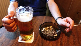UK households 'spending less money on alcohol and cigarettes'