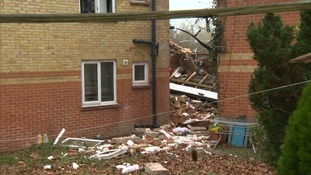 The explosion and fire caused a block of flats to collapse
