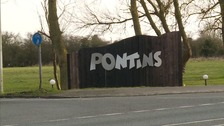The man was staying at Pontins in Pakefield.