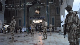 More than 70 killed in Pakistan shrine suicide bombing