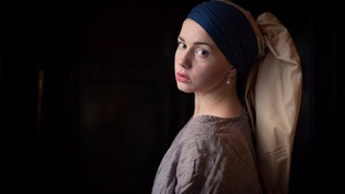 Amelia Rose Budworth as Scarlett Johannsen playing Griet from The Girl with a Pearl Earring