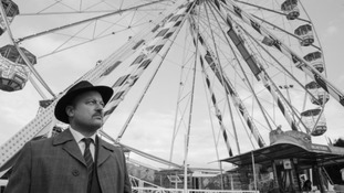 Rick Gilroy, as Holly Martins /Joseph Cotton recreating the Ferris wheel scene from The Third Man at Hull Fair