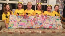 Vinnie's 9-year-old sister Amber and her friends have completed a Colour-a-thon
