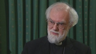 Dr Rowan Williams, the Archbishop of Canterbury, spoke to the media after the vote