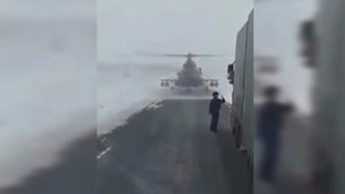 Lost pilot lands helicopter on road and stops lorries to ask for directions