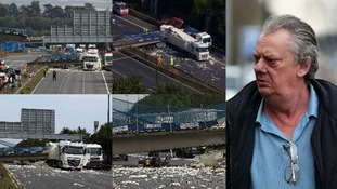 Lorry driver accused of causing £1.5 million of damage to motorway bridge