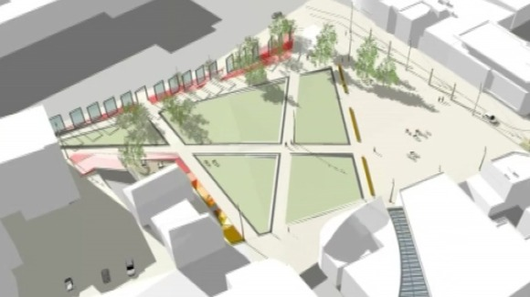 Computed generated image of what Jubilee Square could look like