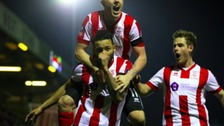 Nathan Arnold after scoring the winner against Ipswich.