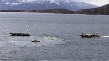 Passengers thrown when boat capsizes into icy waters