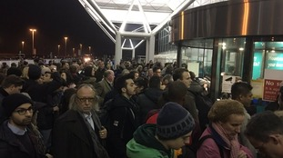 The queues at Stansted