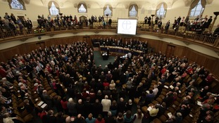 A general view of the Assembly Hall of Church House, where the vote took place