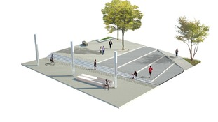 Computed generated image of the open space in Jubilee Square